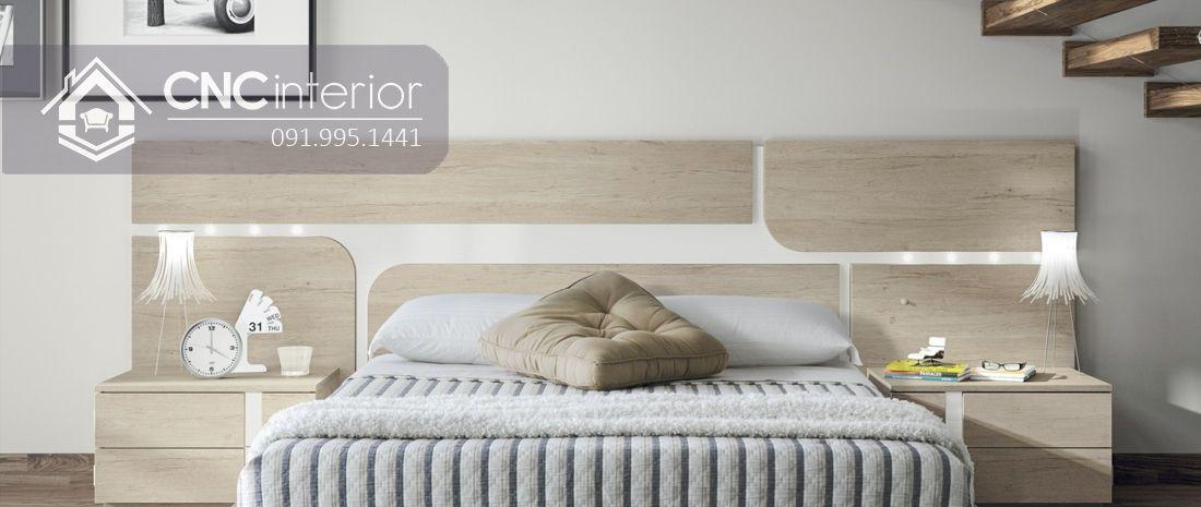 Giường ngủ đẹp bằng gỗ công nghiệp bền chắc CNC 60 4
