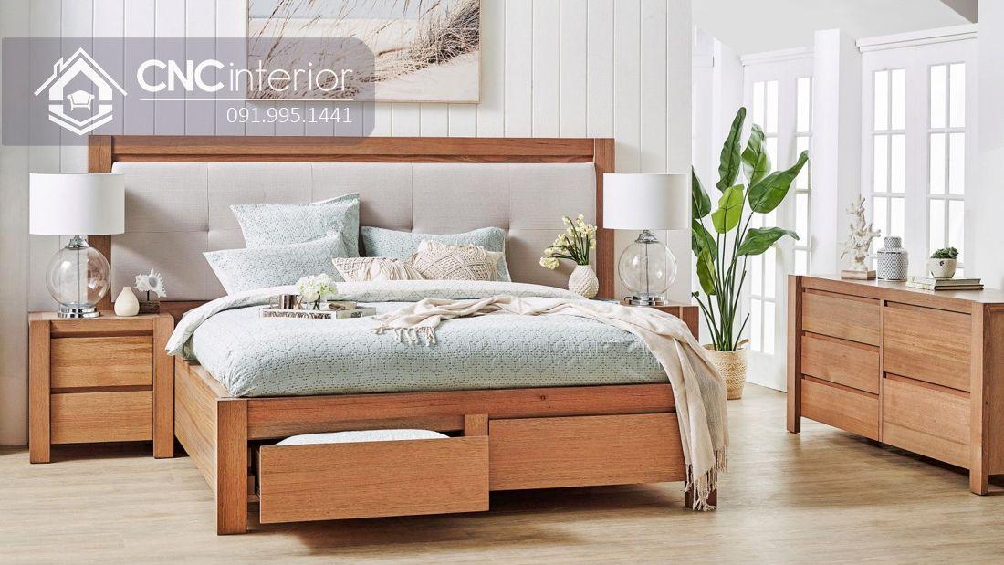 Giường ngủ đơn có ngăn kéo tiện ích CNC 63