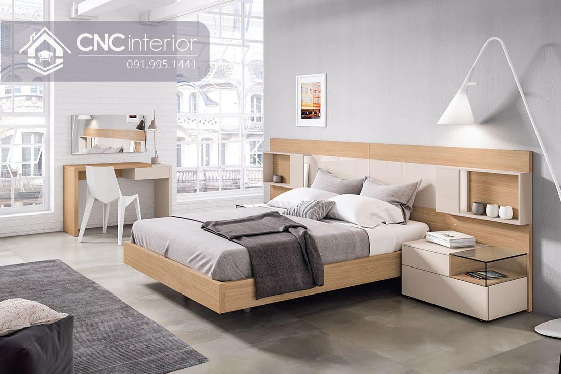 Giường ngủ gỗ công nghiệp cao cấp hiện đại CNC 64 1