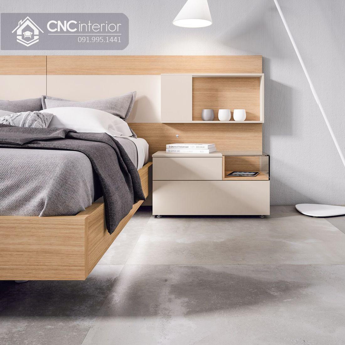 Giường ngủ gỗ công nghiệp cao cấp hiện đại CNC 64 2