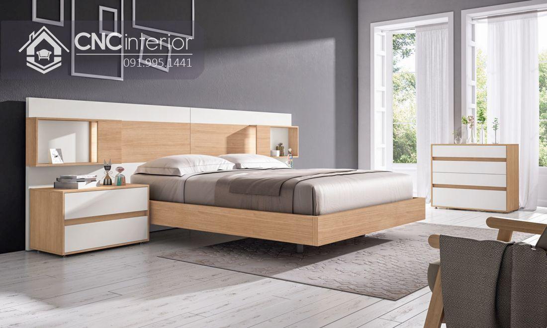 Giường ngủ gỗ công nghiệp cao cấp hiện đại CNC 64 3