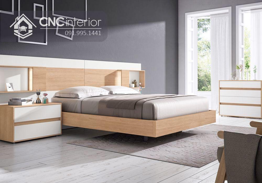 Giường ngủ gỗ công nghiệp cao cấp hiện đại CNC 64 4