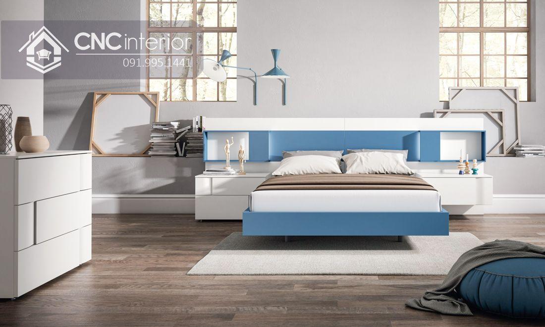 Giường ngủ gỗ công nghiệp cao cấp hiện đại CNC 64