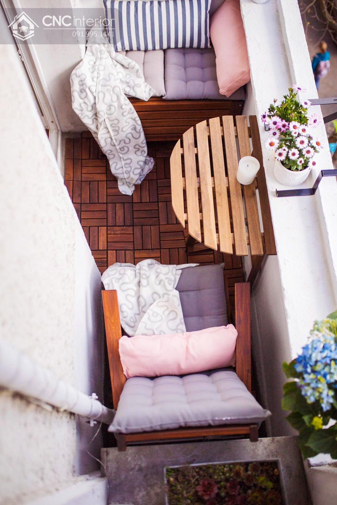bàn ghế ban công chung cư 14