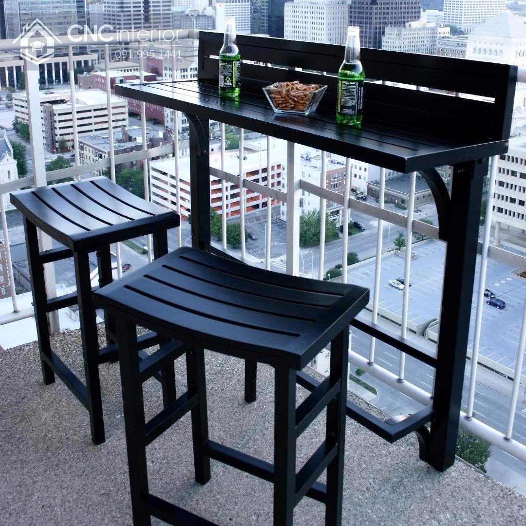 bàn ghế ban công chung cư 13