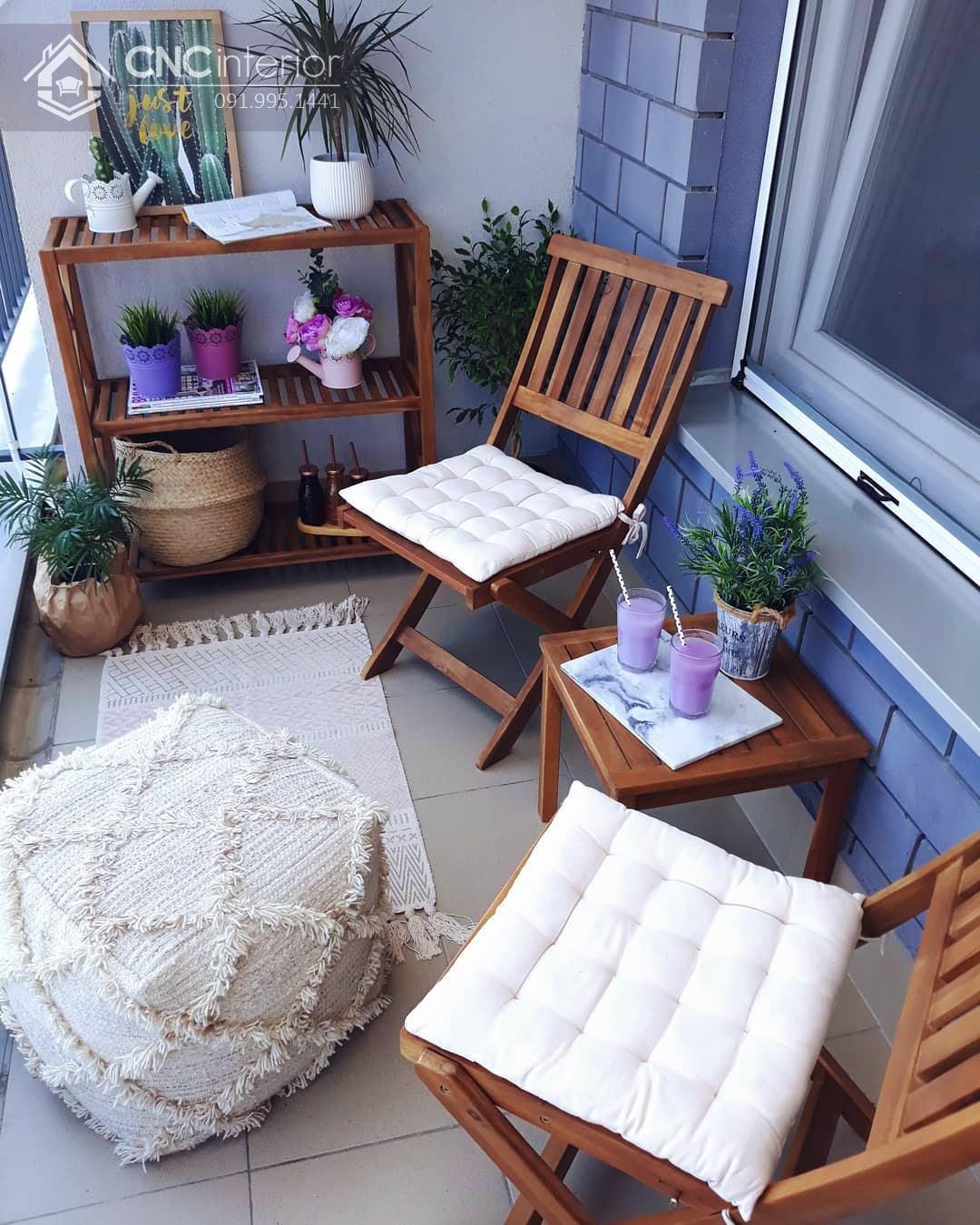 bàn ghế ban công chung cư 7