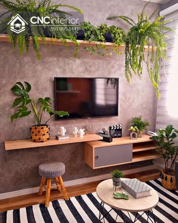 Cách trang trí cây xanh trong nhà (6)