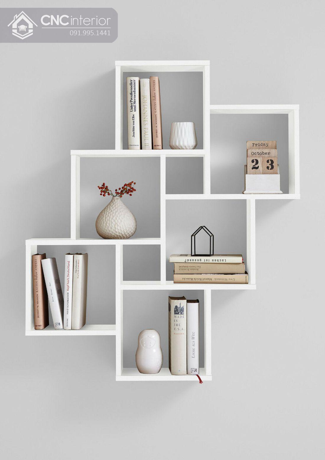 mẫu giá sách đẹp treo tường 1