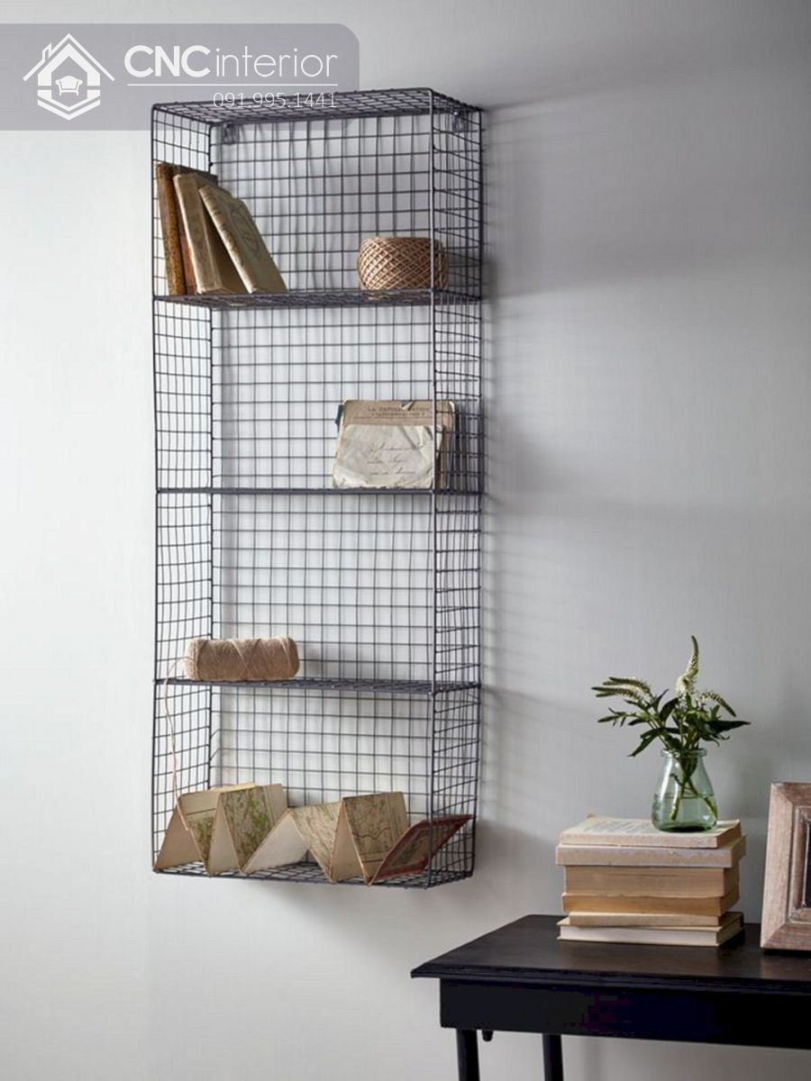 mẫu giá sách đẹp treo tường 2