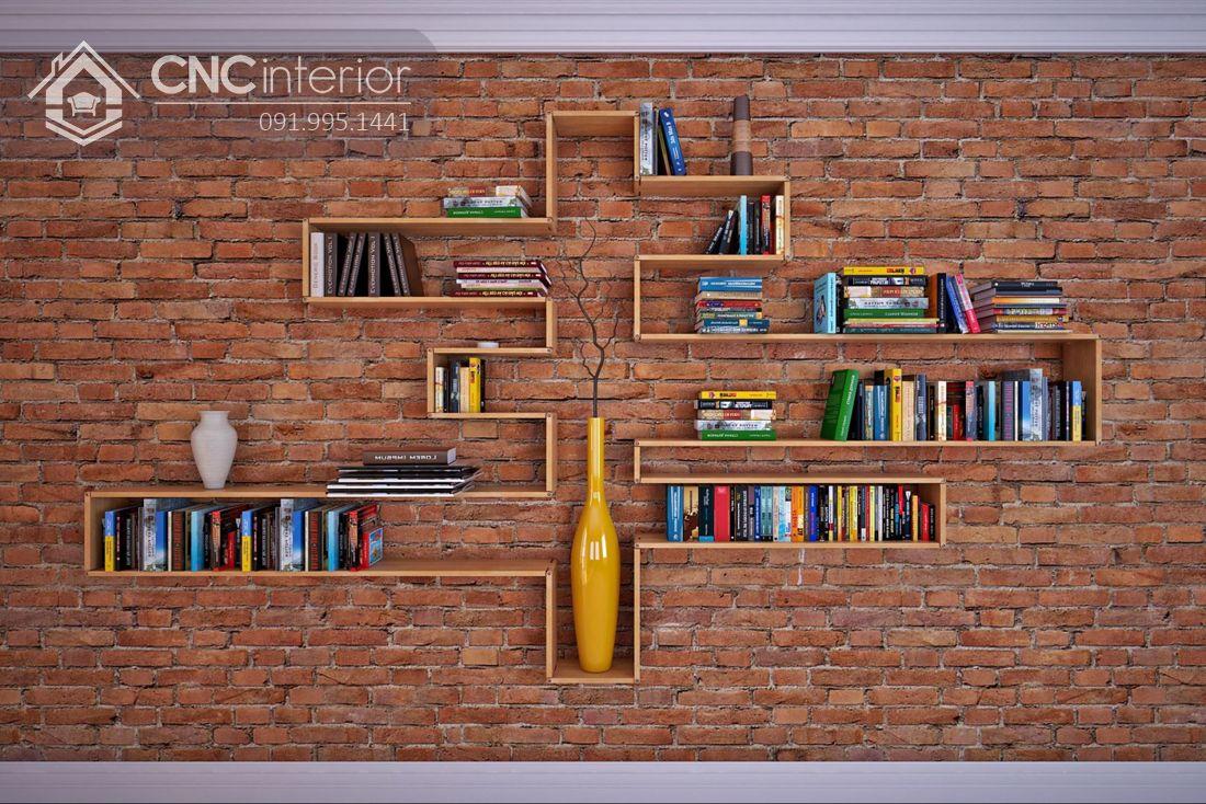 mẫu giá sách đẹp treo tường 15