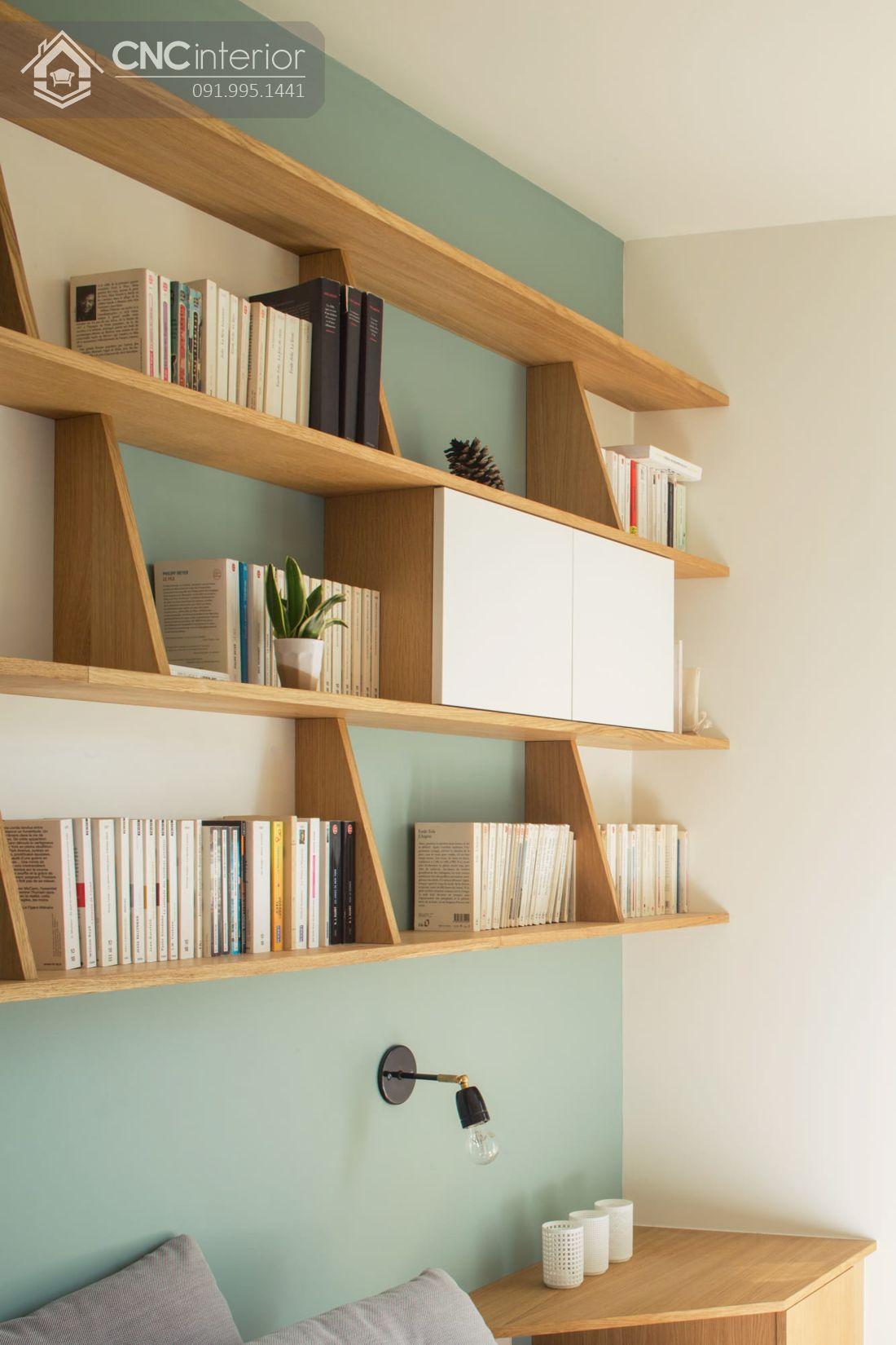mẫu giá sách đẹp treo tường 4
