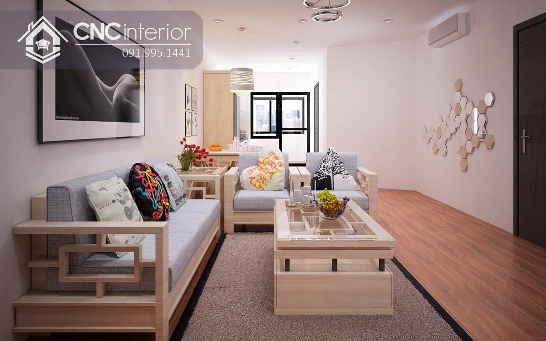Phòng khách chung cư cao cấp 3-1