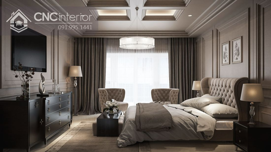 phòng ngủ master tân cổ điển 18