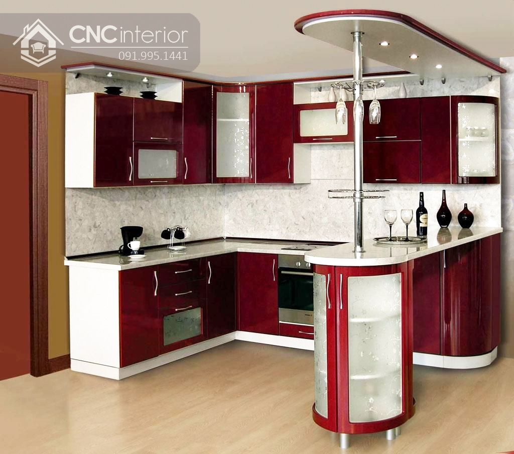 tủ bếp treo tường bằng gỗ 5