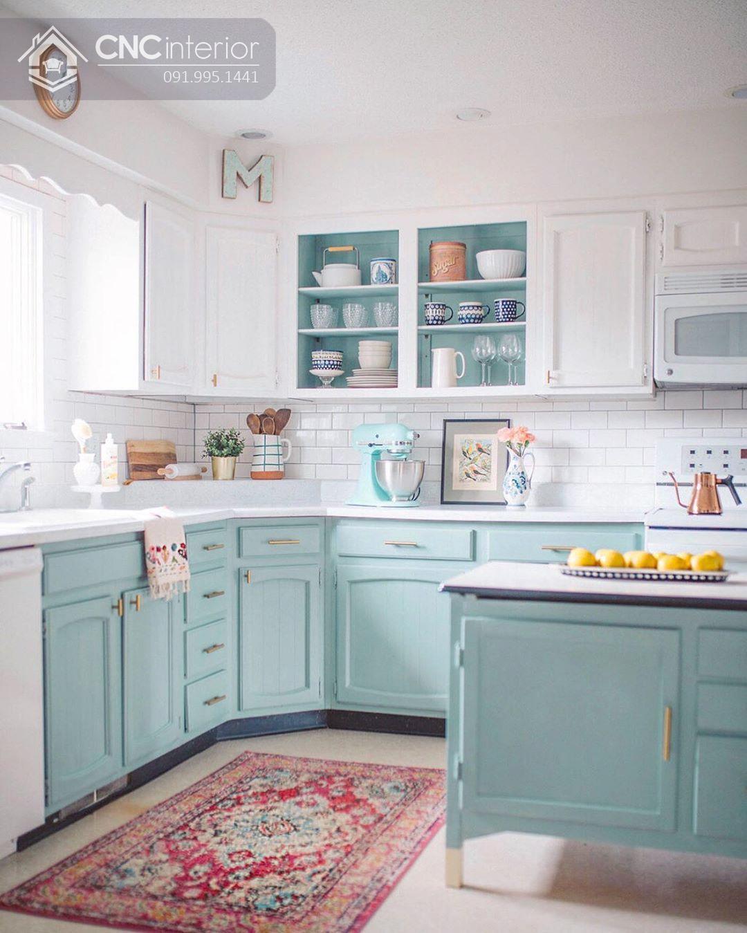 tủ bếp treo tường bằng gỗ 12
