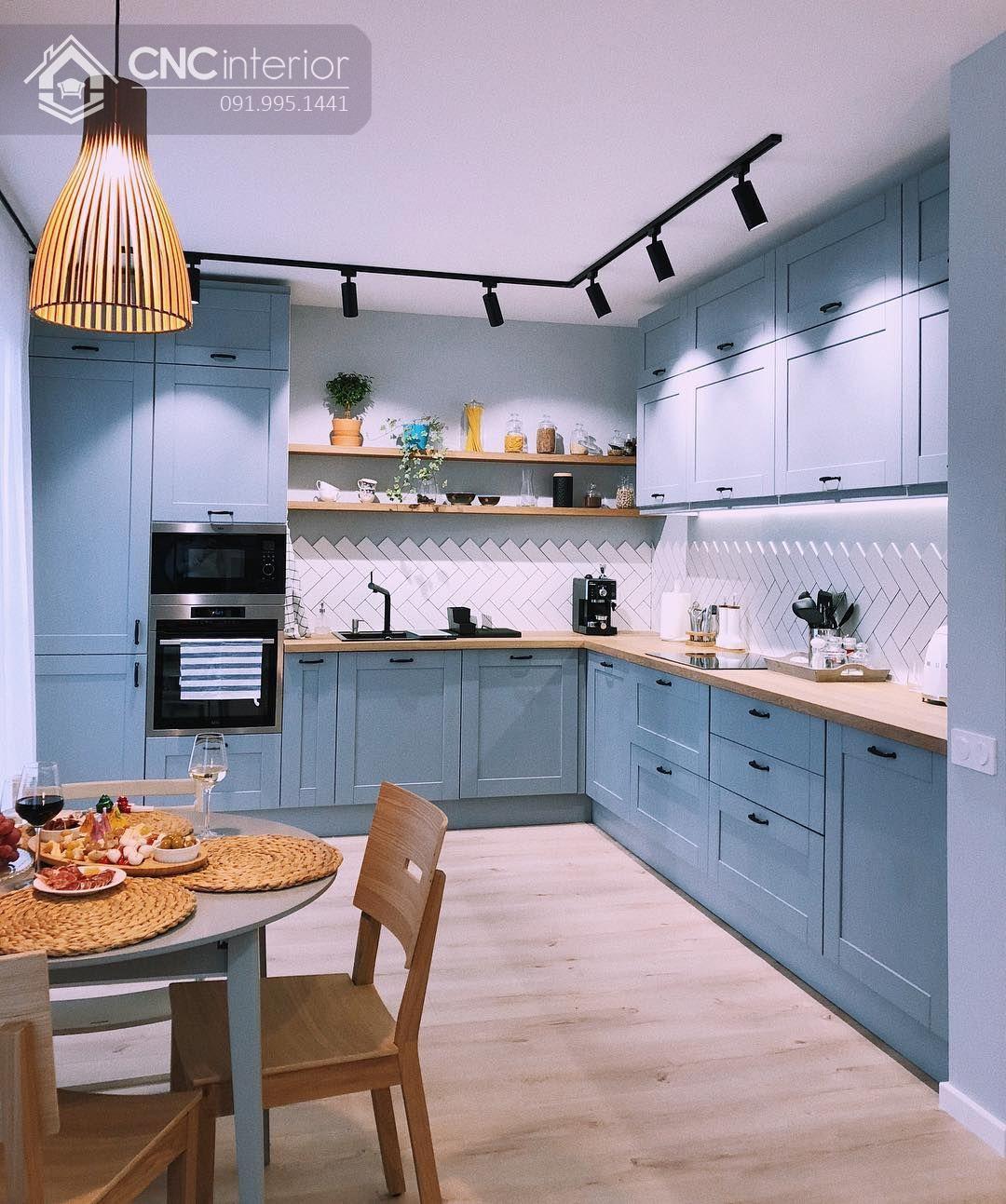 tủ bếp treo tường bằng gỗ 13