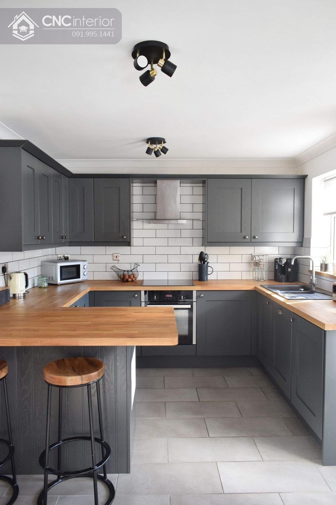 tủ bếp treo tường bằng gỗ 9