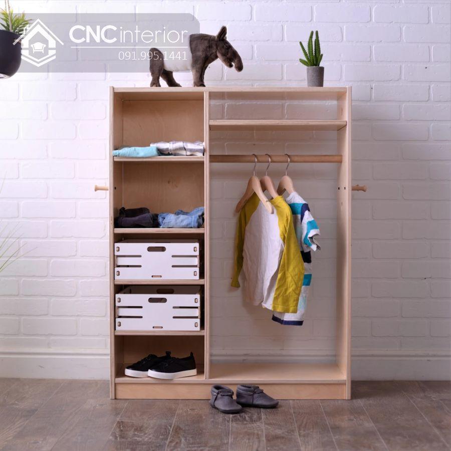 tủ quần áo trẻ em bằng gỗ MDF 5