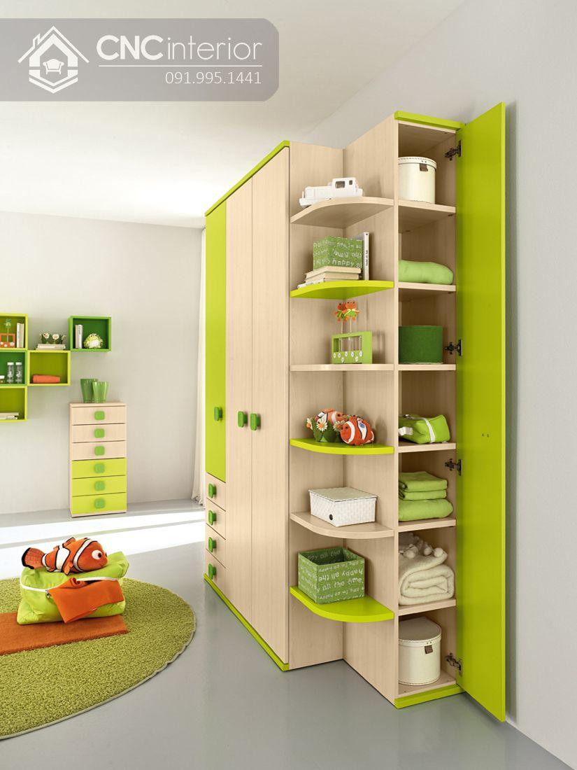 tủ quần áo trẻ em bằng gỗ MDF 6