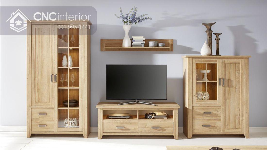tủ tường bằng gỗ cho phòng khách 13