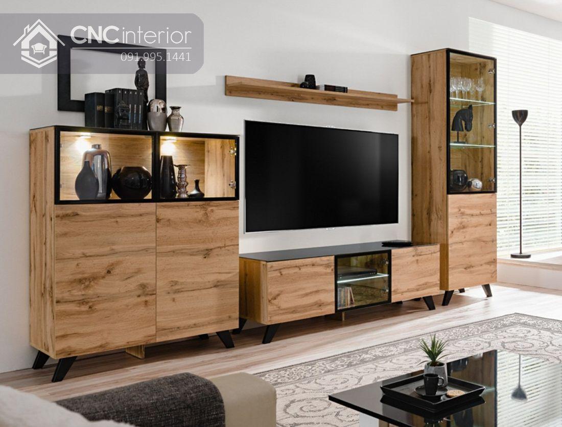 tủ tường bằng gỗ cho phòng khách 14