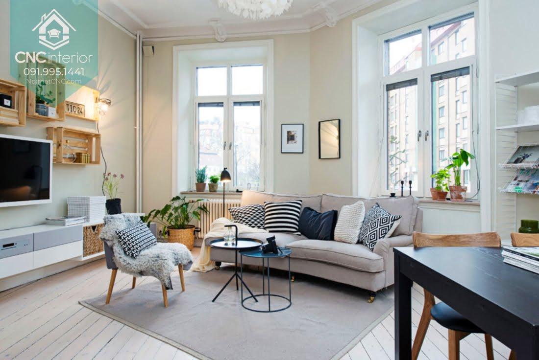 Phòng khách phong cách Scandinavian 11
