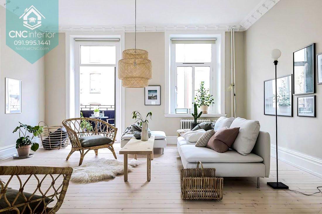 Phòng khách phong cách Scandinavian 12