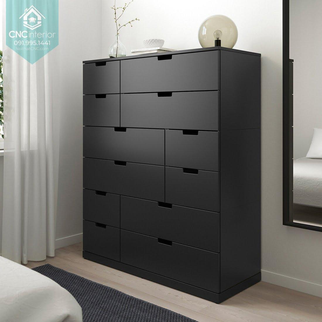 Tủ ngăn kéo gỗ đựng quần áo 13