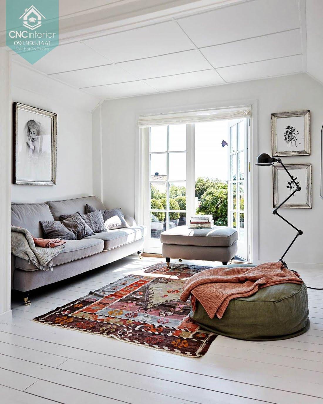 Phòng khách phong cách Scandinavian 13