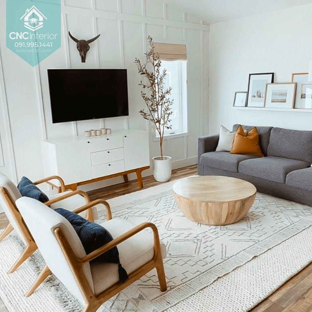 Phòng khách phong cách Scandinavian 6