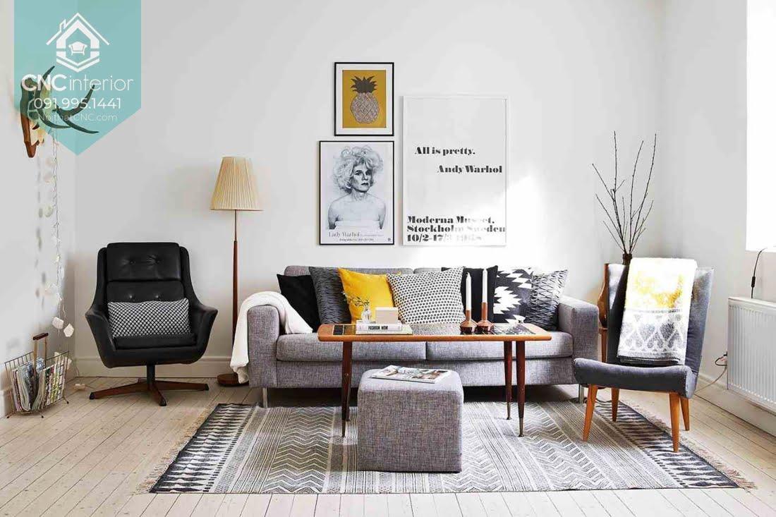 Phòng khách phong cách Scandinavian 7