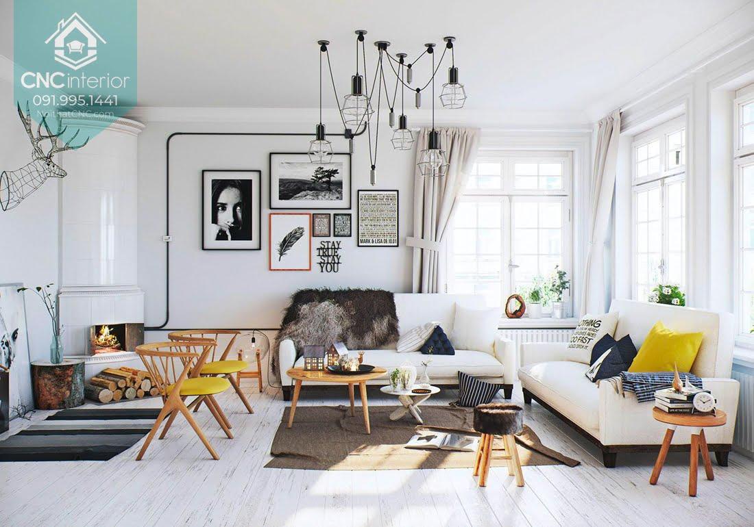 Phòng khách phong cách Scandinavian 8