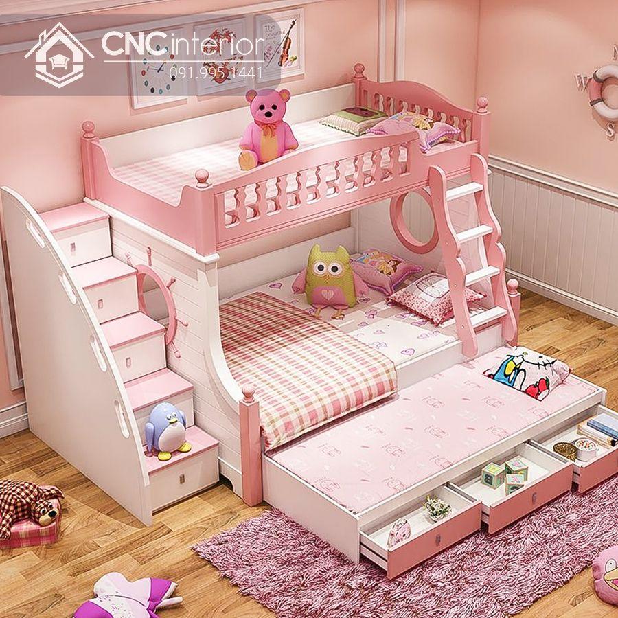 Giường ngủ 2 tầng cho bé gái