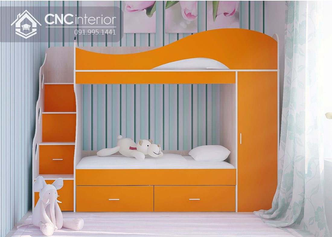 Giường ngủ 2 tầng cho bé gái (11)