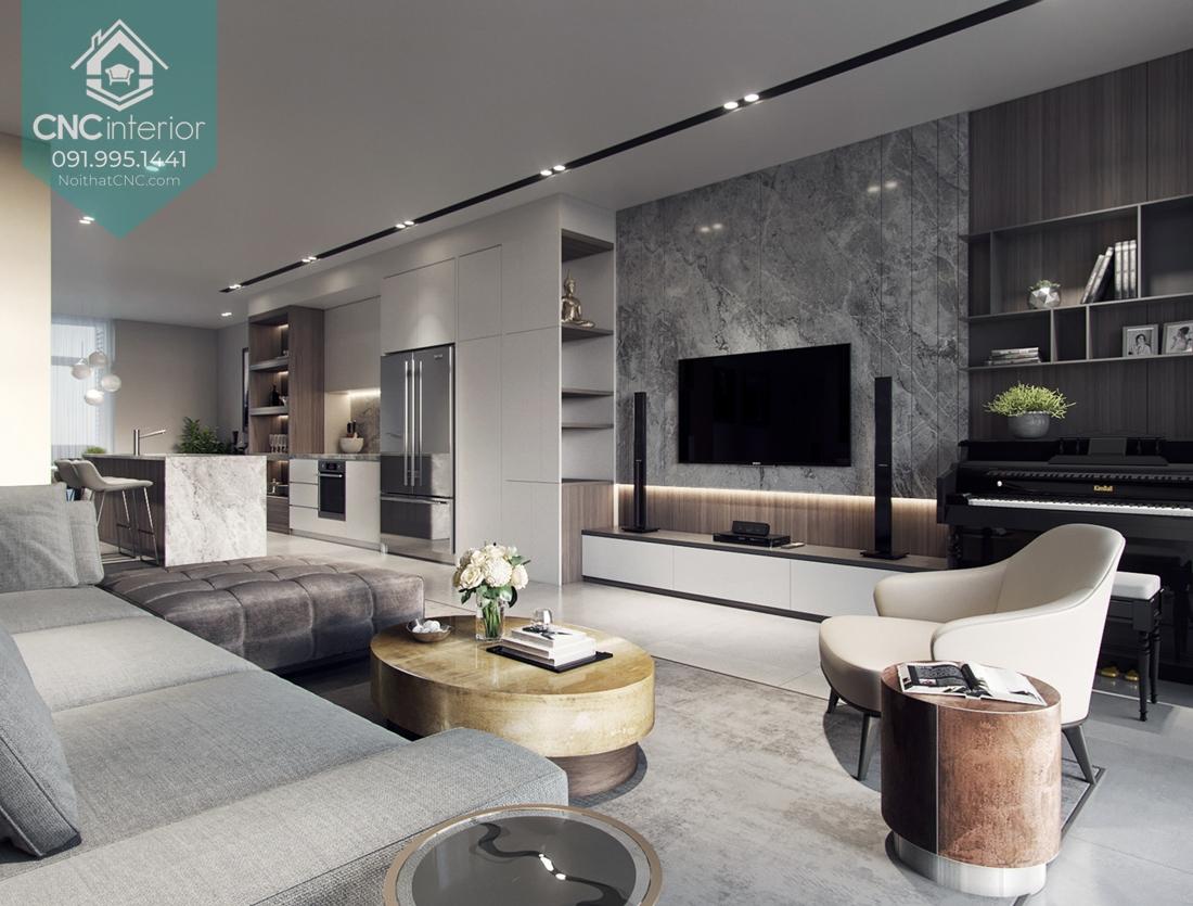 thiết kế căn hộ 100m2 3 phòng ngủ 1