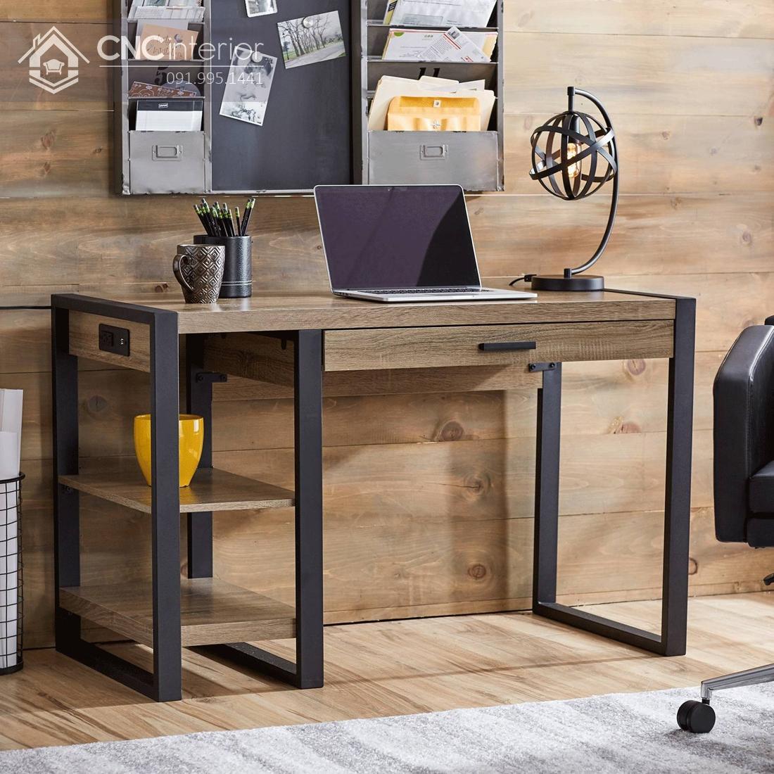 bàn máy tính gỗ tự nhiên 11