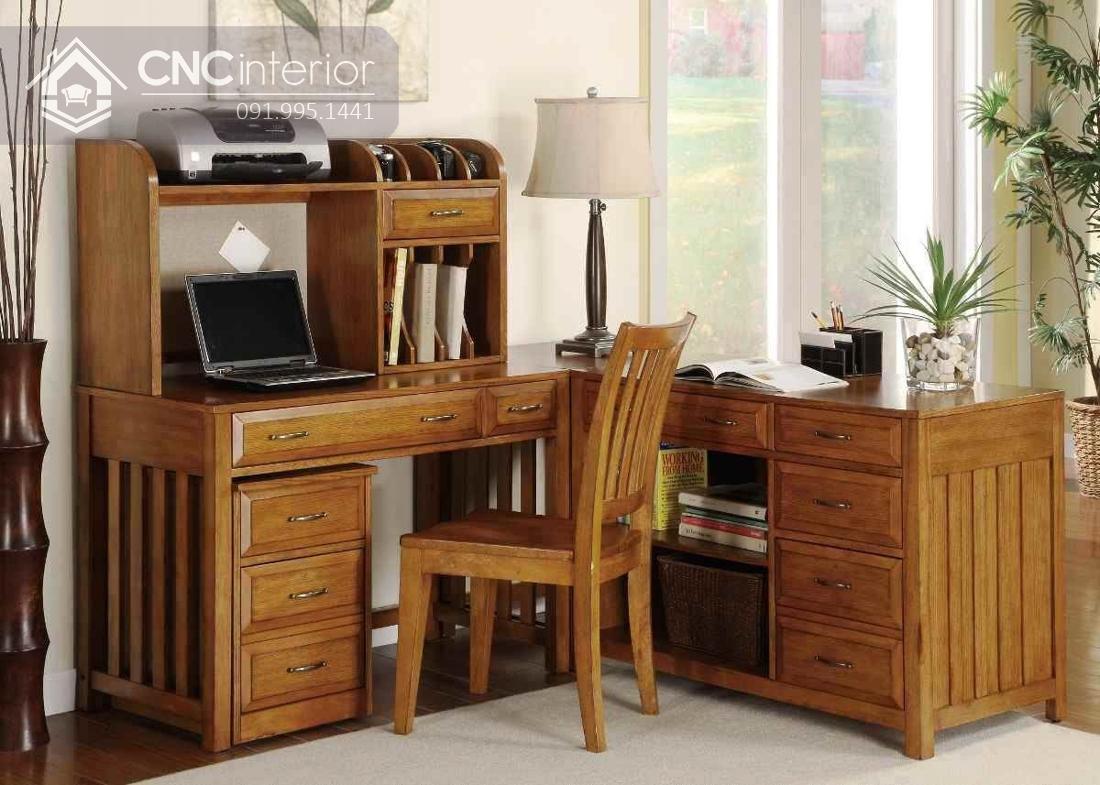 bàn máy tính gỗ tự nhiên 1