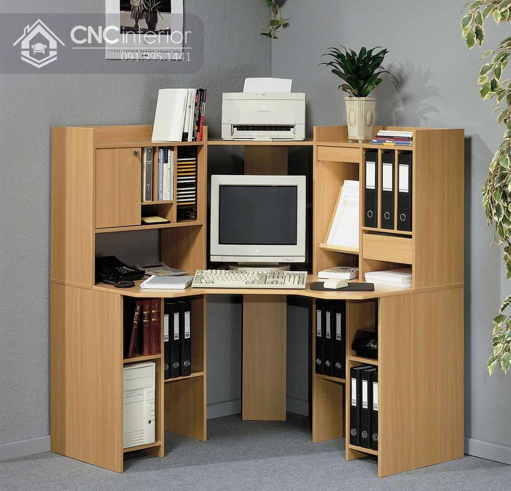 bàn máy tính gỗ tự nhiên 4