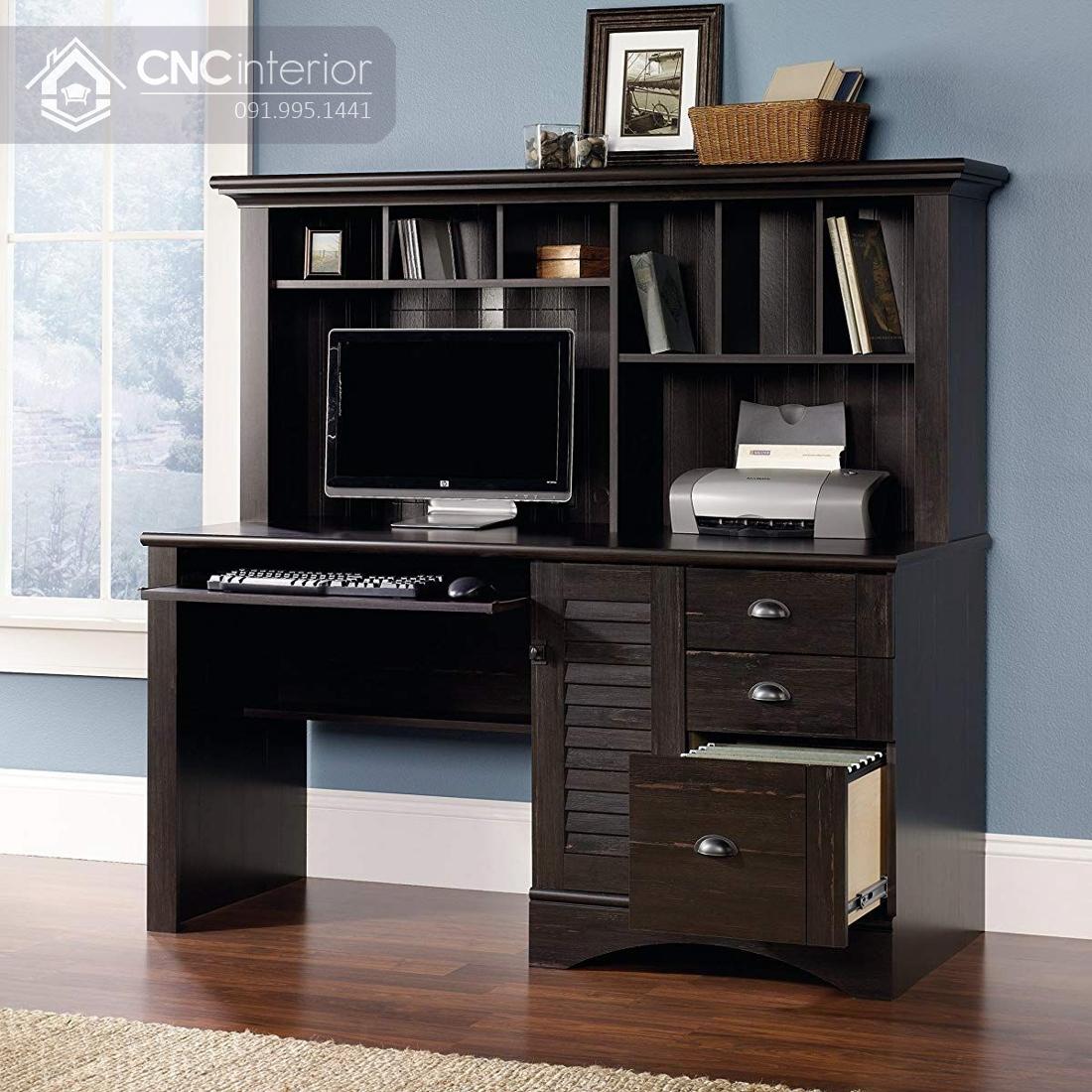 bàn máy tính gỗ tự nhiên 8