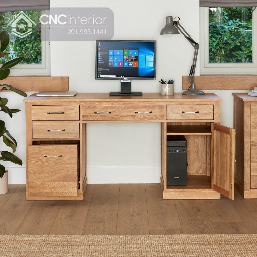 bàn máy tính gỗ tự nhiên 5