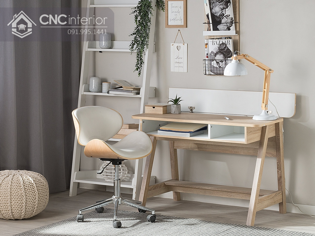 bàn máy tính gỗ tự nhiên 15