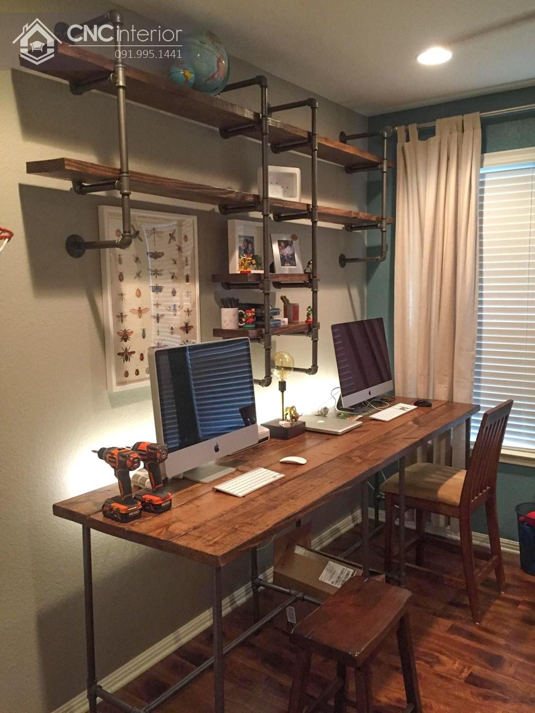 bàn máy tính gỗ tự nhiên 13