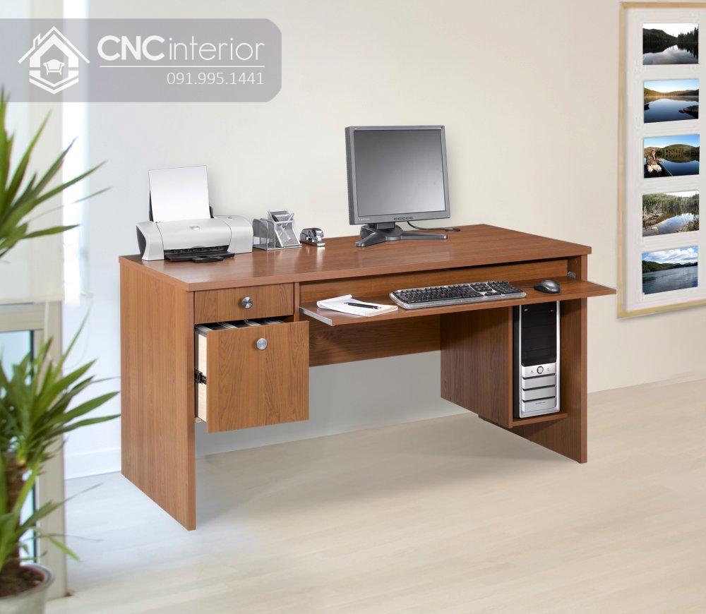 bàn máy tính gỗ tự nhiên 6