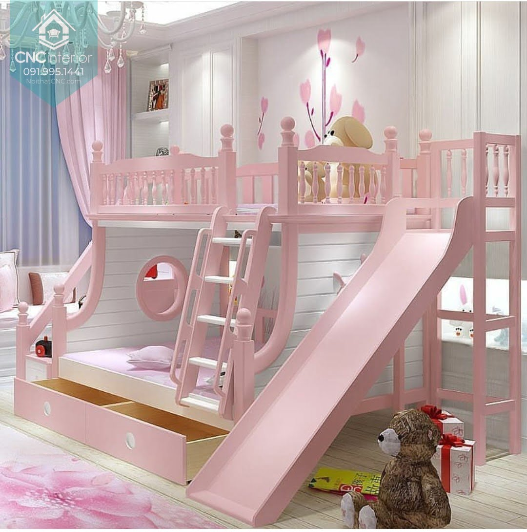 giường tầng có cầu trượt 12