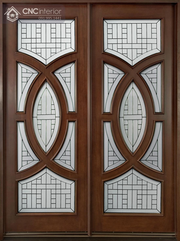 mẫu cửa chính 2 cánh bằng gỗ 5