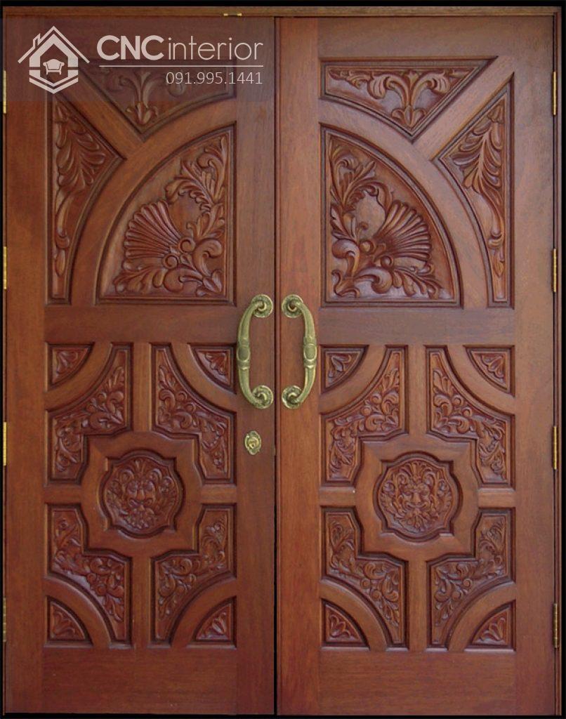 mẫu cửa gỗ 2 cánh lớn