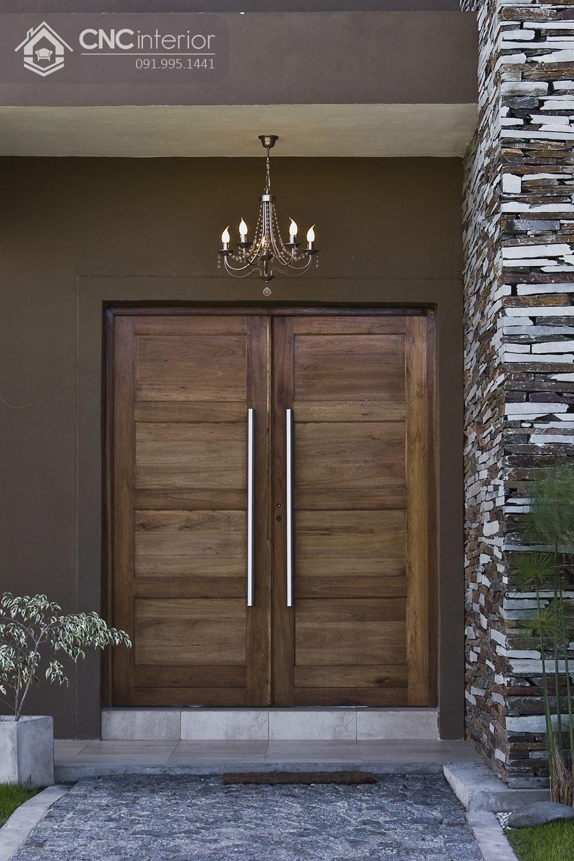 mẫu cửa chính 2 cánh bằng gỗ 4
