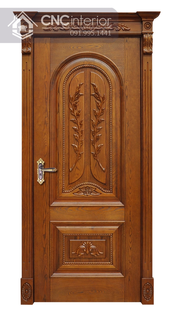 mẫu cửa phòng ngủ bằng gỗ đẹp 2