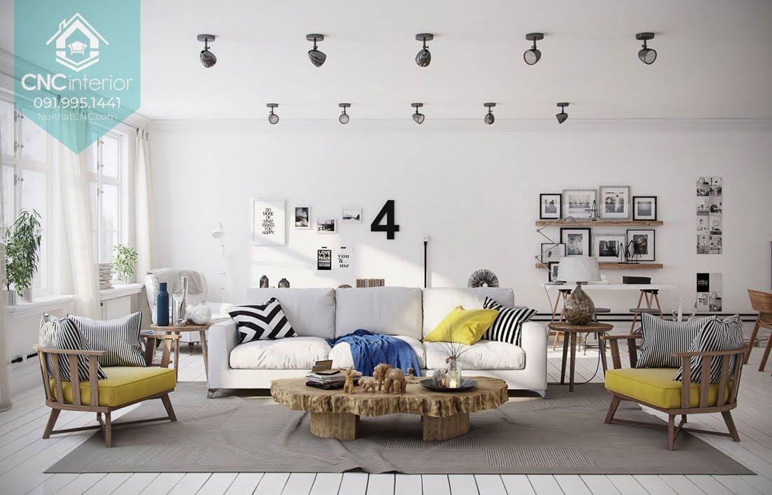 Phòng khách phong cách Scandinavian 15
