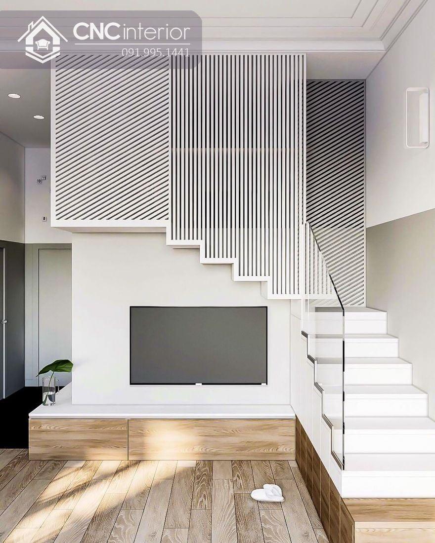 Tận dụng gầm cầu thang làm tủ (1)